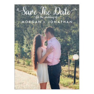 Vertical Save The Date Postcard Template