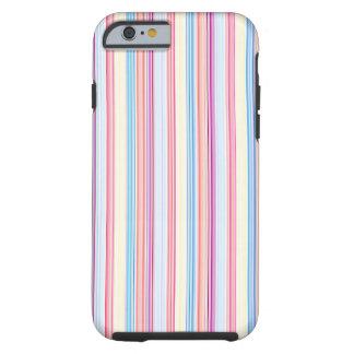 Vertical Scrapbook Stripes Pattern Tough iPhone 6 Case