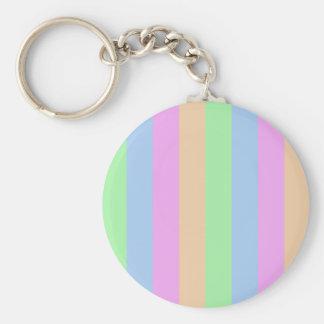 Vertical Semi-Transparent Tetrade Basic Round Button Keychain