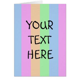 Vertical Semi-Transparent Tetrade Card
