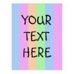 Vertical Semi-Transparent Tetrade Post Card