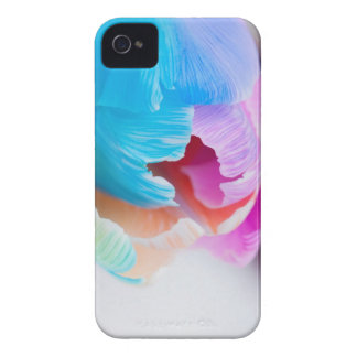 Vertical shoot of unusual multi colored tulip iPhone 4 Case-Mate case