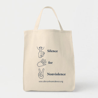 Vertical Silence for Nonviolence Bag