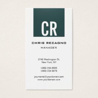 Vertical Slate Gray Stripe White Business Card