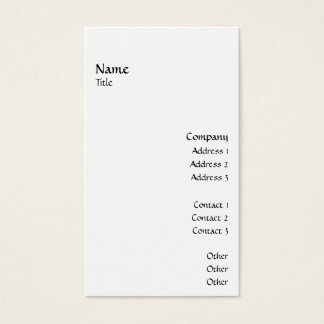 Vertical Smooth 2 Business Card