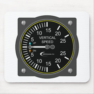 Vertical Speed Indicator Mouse Pad