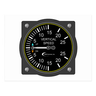 Vertical Speed Indicator Postcard