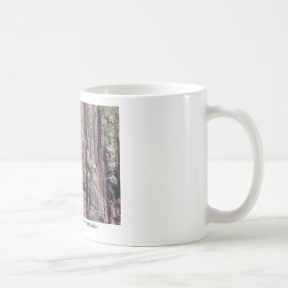 Vertical stratigraphy, rock layers in cliffs classic white coffee mug