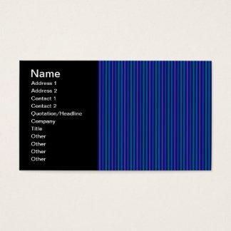 Vertical Striped Pattern Blue Green Purple Business Card