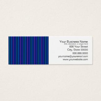 Vertical Striped Pattern Blue Green Purple Mini Business Card