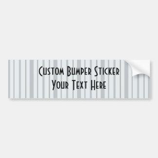 Vertical Stripes 1 - Blue Car Bumper Sticker