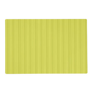 Vertical Stripes Chartreuse Yellow Green Placemat