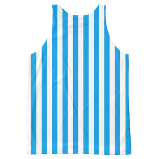 Vertical Stripes Choose Your Own Color Template All-Over-Print Tank Top