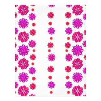Vertical Stripes Floral Pattern Collage Letterhead