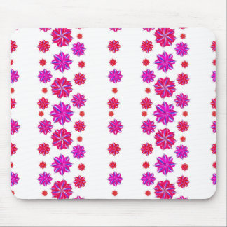 Vertical Stripes Floral Pattern Collage Mouse Pad