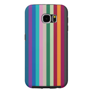 Vertical Stripes In Fall Colors Samsung Galaxy S6 Cases