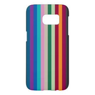 Vertical Stripes In Fall Colors Samsung Galaxy S7 Case