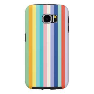 Vertical Stripes In Spring Colors Samsung Galaxy S6 Cases