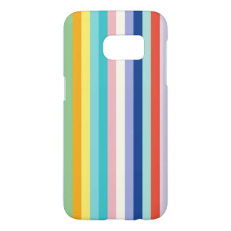 Vertical Stripes In Spring Colors Samsung Galaxy S7 Case