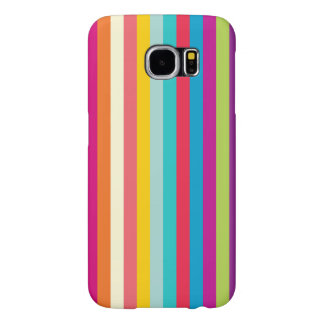 Vertical Stripes In Summer Colors Samsung Galaxy S6 Cases