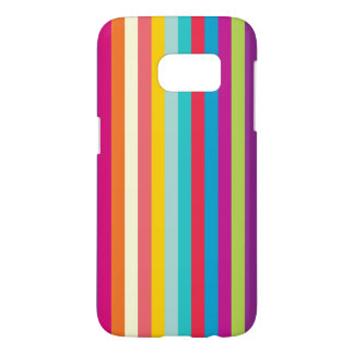 Vertical Stripes In Summer Colors Samsung Galaxy S7 Case