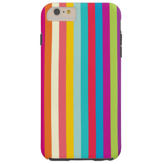 Vertical Stripes In Summer Colors Tough iPhone 6 Plus Case