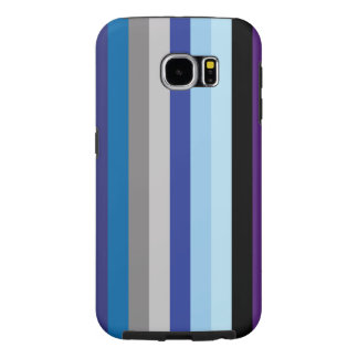 Vertical Stripes In Winter Colors Samsung Galaxy S6 Cases