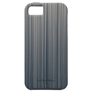 Vertical Stripes of Slate and Cream iPhone 5 Case