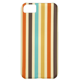 Vertical Stripes Retro Colors Blue Yellow Red Cover For iPhone 5C