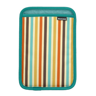 Vertical Stripes Retro Colors Blue Yellow Red Sleeve For iPad Mini