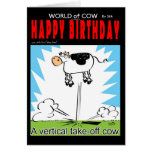 Vertical Take off cow Greeting Cards