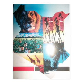 Vertical Templa de la postal de Jambo Kenia Hakuna