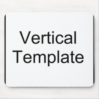 Vertical Template Mouse Pad