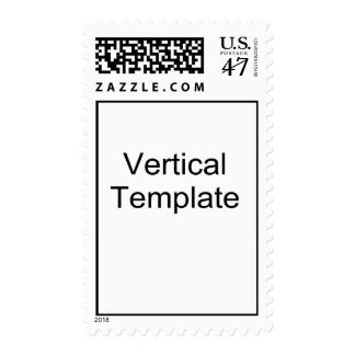 Vertical Template Postage