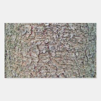 Vertical texture of tree bark rectangular sticker