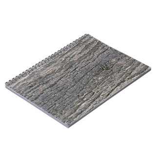 Vertical texture of tree bark spiral notebook