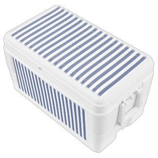 Vertical Thin Navy Stripes Chest Cooler