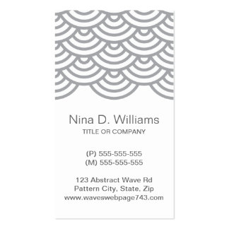 Vertical trendy gray Japanese wave pattern Business Cards