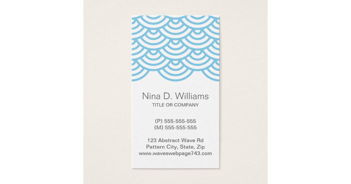 Wave Pattern Business Cards & Templates   Zazzle