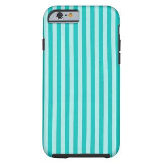 Vertical Turquoise Scrapbook Stripes Pattern Tough iPhone 6 Case