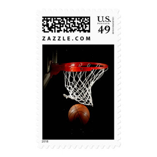 Vertical Unique Modern Basketball Postage