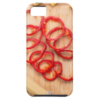 Vertical view on food background from pasta iPhone SE/5/5s case