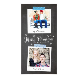 Vertical Washi Tape and Chalkboard Photo Card