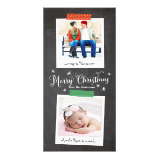 Vertical Washi Tape and Chalkboard Photo Card