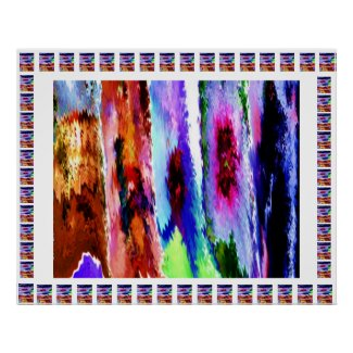 Vertical Waves - Colorful Abstract Graphic Collage Print