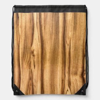 Vertical Wood Grain Pattern Drawstring Backpack
