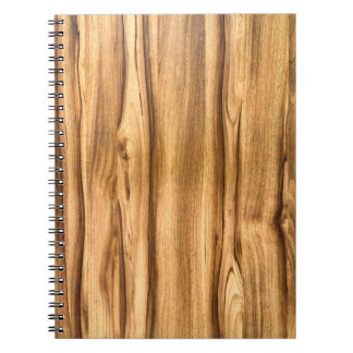 Vertical Wood Grain Pattern Note Book