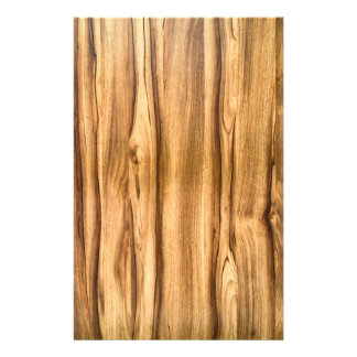 Vertical Wood Grain Pattern Stationery