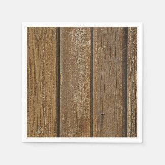 Vertical Wood Planks Paper Napkin
