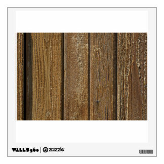 Vertical Wood Planks Wall Sticker
